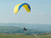 Tandem paragliding, fly silently like a bird.